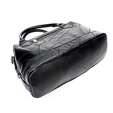 Frauen Handtaschen Tote PU All Seasons Formal Casual Event / Party Hochzeit Büro & Karriere Wochenende Tasche Zipper Schwarz Black