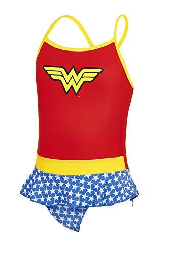 Zoggs Bañador para niñas Wonder Woman Swimdress Bañador, niña, 512318024, Red/Blue/Multi, 5 años...