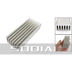 TOOGOO(R) 98 x 40 x 20mm Aleta de Enfriamiento Difusion de Calor Aluminio