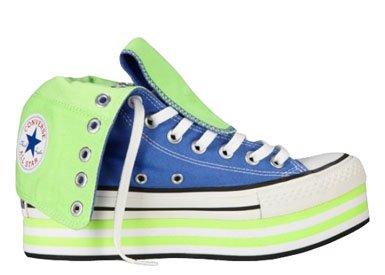 Converse , All Star - Plateforme - Hauteur genou femme Bleu