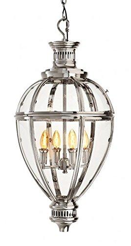 Casa Padrino Luxus Laterne - Luxus Hängeleuchte Nickel Durchmesser