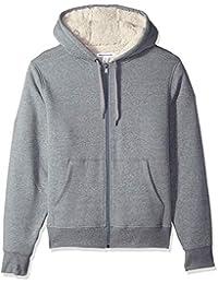 Amazon Essentials Sherpa Lined Full-Zip Hooded Fleece Sweatshirt Hombre