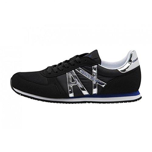 Armani Exchange Herren Sneaker, Schwarz - Schwarz - Größe: US 9/IT 42.5/UK 8.5