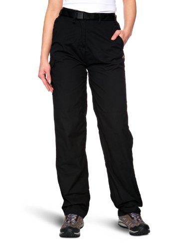 Craghoppers Women's Classic Kiwi Walking Trousers - Black, Long-Size 18