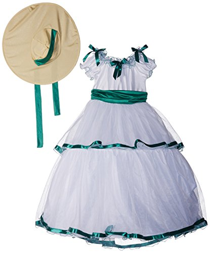 Kinder Belle Kostüm Southern - Fun World FW5934-M Medium Southern Belle Kinderkost-m