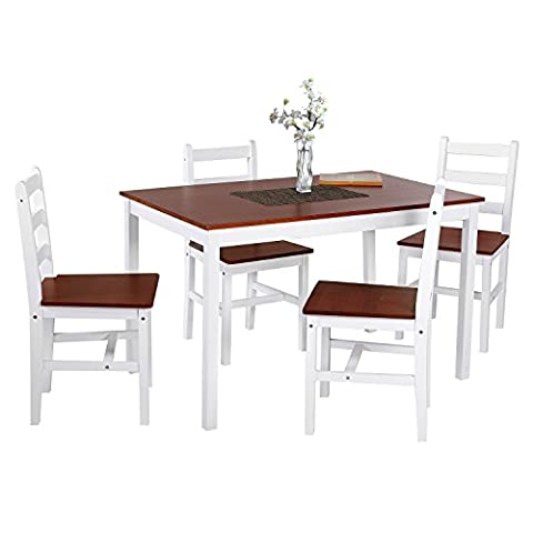 Dining Table, HST Mall Dining Table with 4 Chairs Home