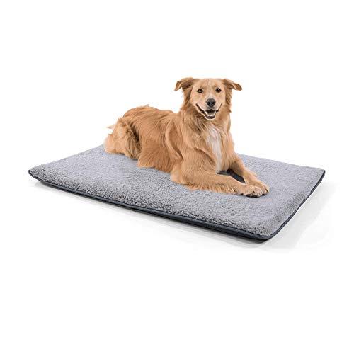 brunolie Finn große Hundematte, waschbar, hygienisch und Rutschfest, gemütliche Hundedecke passend für den Kofferraum in Grau, Größe L