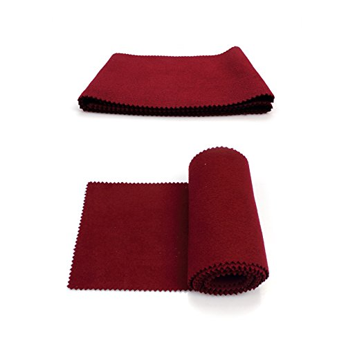 EFORCAR Klavier 88 Tastatur Schutz Schmutz dichte Abdeckung weiche Wolle 127 x 15cm 2er Pack (rot) (88 Staubschutz Schlüssel-tastatur)