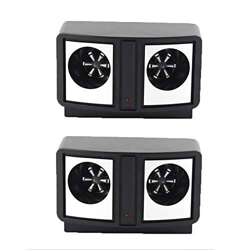 LDRAGON 2 Stück Elektronisches Pest-Repeller-Home-Lager Dual-Audio-Ultraschall-Repeller Super...