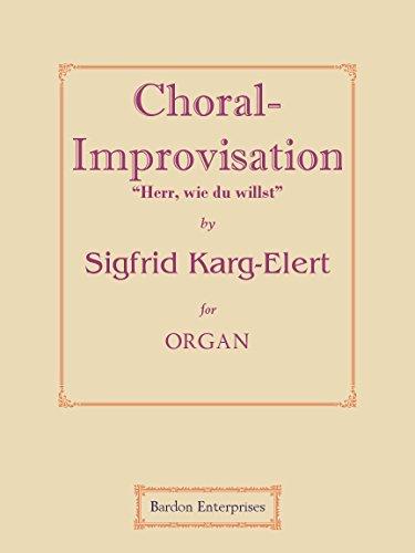 """Choral-improvisation - """"Herr, wie du willst"""" (Op 65/36) per organo"""