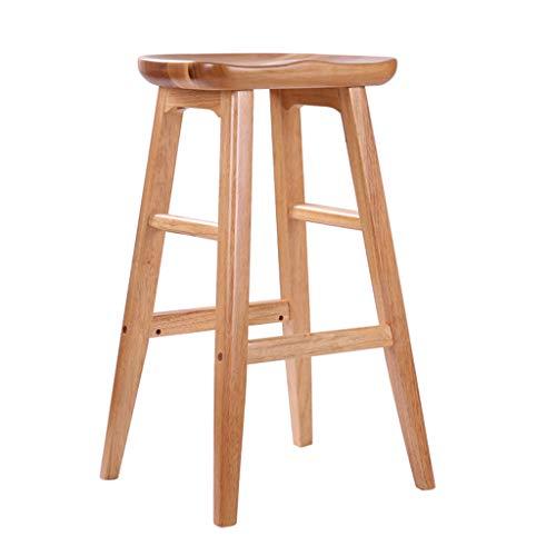 Minimalista, legno massiccio, bar sedia alta creativa sedia in legno in stile europeo sgabello da bar vintage vintage 75cm e 65cm (colore : colore del legno, dimensioni : 75 * 43 * 43cm)