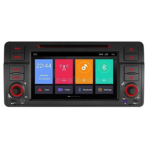 Junhua 7 Zoll Android 8.1/8.0 2GB RAM DVD GPS Navigation für BMW E46 M3 325 3er 318 320 Rover75 MG Unterstützt Bluetooth 5.0 DAB+ OBD2 WLAN 4G LTE USB Subwoofer Mirrorllink AV-Out