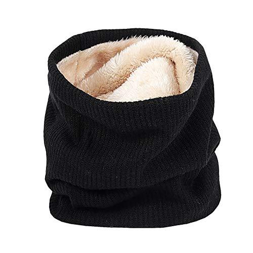ESAILQ Weich Männer Frauen Schal Winter Warme Baumwollschals Kragen Bandanas(Schwarz)