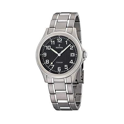 Reloj de caballero FESTINA F16458/3 de cuarzo, correa de titanio (con cronómetro) de FESTINA