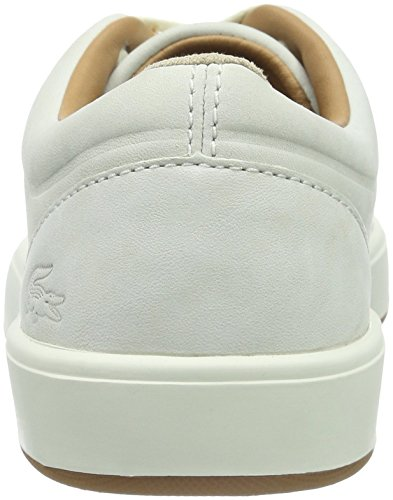Lacoste Tamora Lace Up 116 1 Caw Off Wht, Baskets Basses Femme Blanc Cassé - Elfenbein (Off White-098)