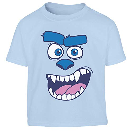 Kids Karnevals & Faschings Blaues Monsterkostüm Kleinkind Kinder Jungen T-Shirt 106/116 (5-6J) - Herren Monsters Inc Kostüm