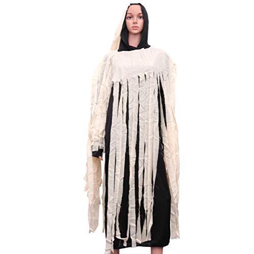 Kostüm Frauen Ghostbuster - TOYANDONA Halloween spielt kostüm Zombie kostüm langes Kleid Leistung Requisiten Halloween Cosplay kostüm Oberbekleidung für Frauen männer (165-185 cm)