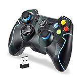 EasySMX Controller, ESM-9013 Controller da Gioco Wireless 2.4G Joystick Dual Turbo a Vibrazione per PS3 / Telefono Android Tablet/Window PC (Camouflage)