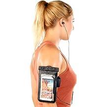 Somikon Wasserschutz Handy: Wasserdichte Smartphone-Tasche mit Kopfhörer-Eingang bis 4,0 Zoll (Unterwassertasche)