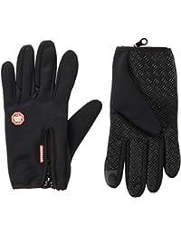 Handcuffs Fashion Warm Cycling Gloves (Large, Black)