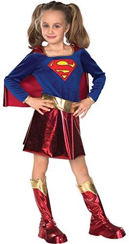 Rubie's - Costume da Supergirl Bambina, L (8-10 anni)