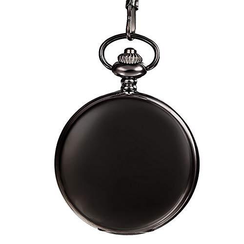 Quarz-Taschenuhr für Herren, offenes Zifferblatt, römische Ziffern, Taschenuhren für Jungen, Anhänger, Halskette