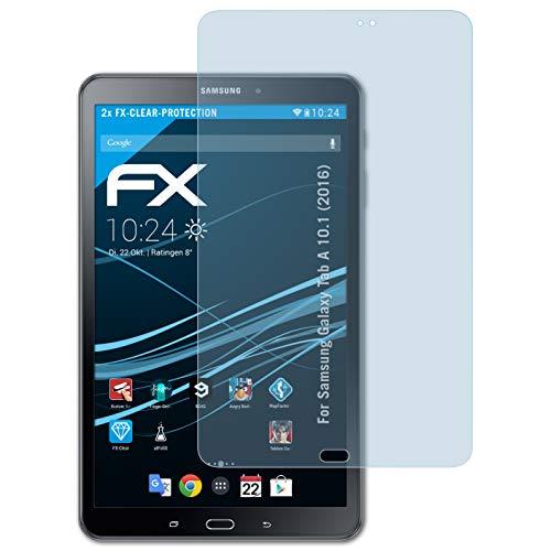 atFolix Schutzfolie kompatibel mit Samsung Galaxy Tab A 10.1 (2016) Folie, ultraklare FX Bildschirmschutzfolie (2X)
