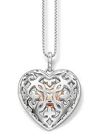 Thomas Sabo Women's Tree of Life Bead Silver Zirconia Necklace of Length 38-42cm SCKE150145