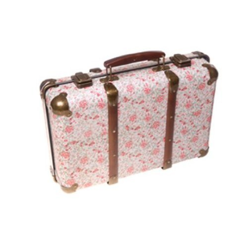 Sass and Belle - Valise Rétro Fleuri Roses