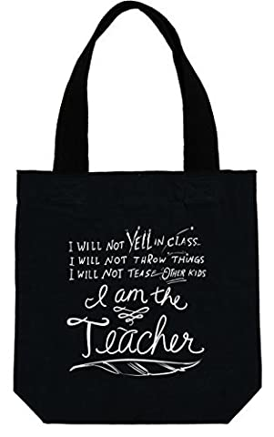 Primitives by Kathy 12-Inch Handle The Teacher Tote Bag, 14.5-Inch by 14.5-Inch by Primitives By Kathy