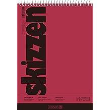 Brunnen 1047550 Zeichen-/Skizzenblock (17x24cm, 110 g/m², 50 Blatt, mit Spirale)