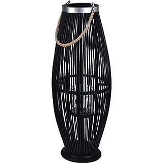 AiO-S - OK Laterne für draußen groß Dekolaterne aus Bambus Gartenlaterne ca. 29 x 72 cm