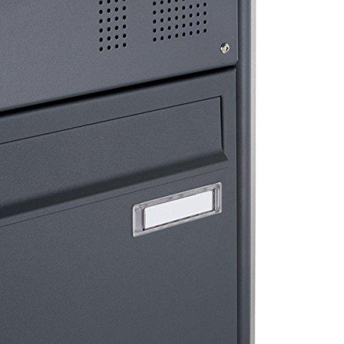 Standbriefkasten Design BASIC 380-P mit Klingel- Sprechteil – Anthrazitgrau 7016 (1 Parteien) - 6