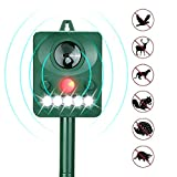Third A Solar Power Ultrasonic Animal & Pet Repeller, Waterproof Cat Repellent Battery