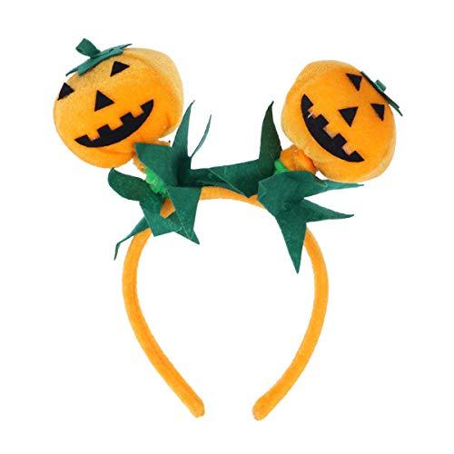 Kürbis Stirnband Haarband Haarband Kopfschmuck Halloween Party Kostüm Zubehör (Orange) ()