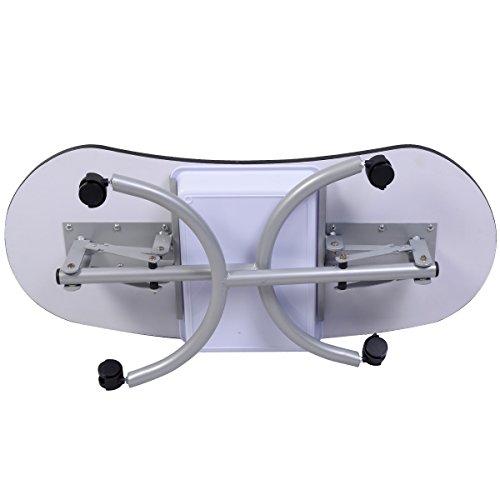 Tisch klappbar – Tragbarer Nageltisch mit Tasche und Handgelenkauflage - 4