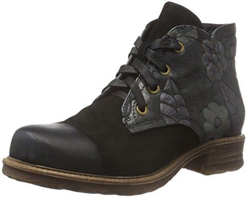Manitu - 961567, Stivali a metà polpaccio con imbottitura leggera Donna Nero (Nero (nero))