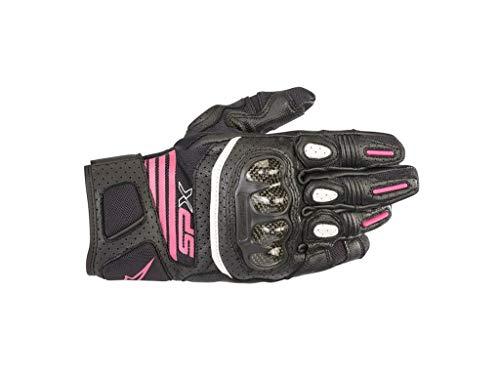 Alpinestars Stella SP X Air Carbon V2 Damen Motorradhandschuhe Schwarz/Pink M