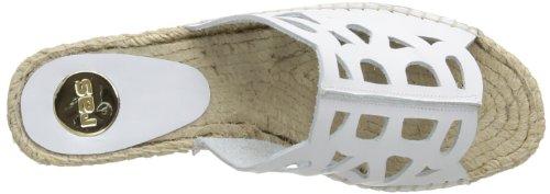 RAS 5622, Sandales compensées femme Blanc (Vaqueta White)