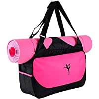 Drawihi 1PCS Yoga Bolsa Complejo Extra Grande de Yoga y Gimnasia (Rosa roja)