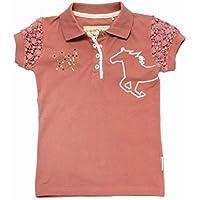 Horseware Girls Pique Polo Rosette Pink / 3-4 yrs