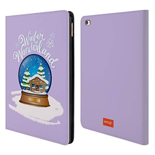 Head Case Designs Offizielle Emoji® Schnee-Kugel Winter Wunderland Brieftasche Handyhülle aus Leder für iPad Air 2 (2014)