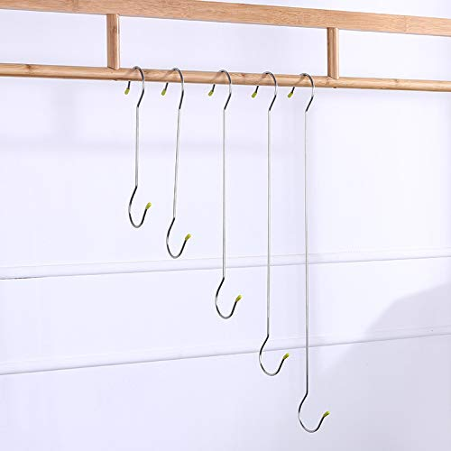 Gu3Je S-förmigen Metallhaken Edelstahl Multifunktions Kleiderbügel Haken Küche Löffel Bad Schlafzimmer 1 Paket / 5 Stück 30cm