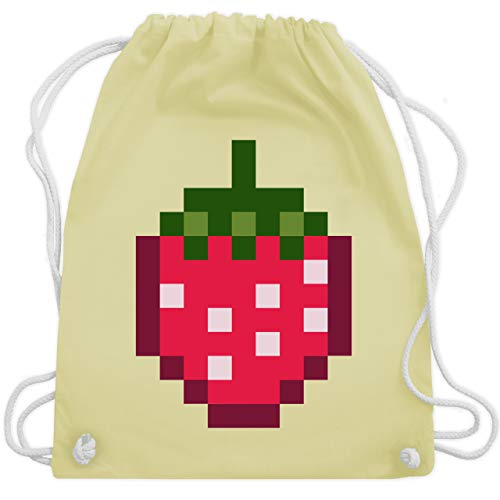 Karneval & Fasching - Pixel Erdbeere - Karneval Kostüm - Unisize - Pastell Gelb - WM110 - Turnbeutel & Gym ()