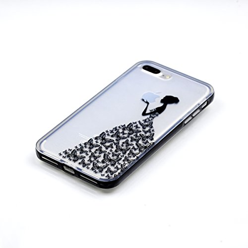 Custodia iPhone 7 , Cozy Hut Cover iPhone 7 Silicone Trasparente TPU Flessibile Sottile Bumper Case per Apple iPhone 7 Ultra Sottile Anti Graffi Silicone Cover Protettivo Pelle Guscio Paraurti Copertu mela Ragazza