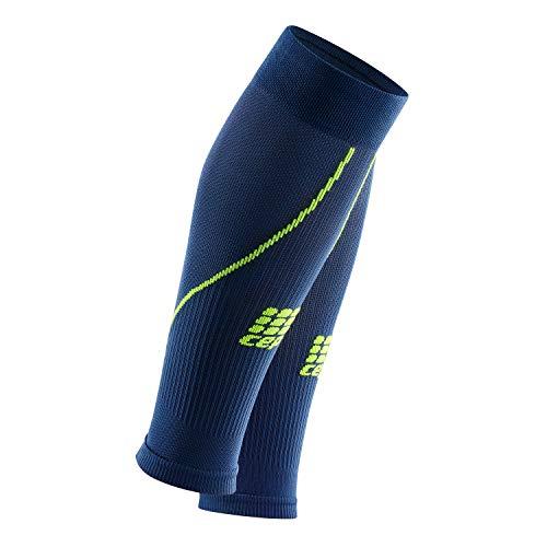 CEP – Calf Sleeve 2.0, Beinstulpen für Herren in dunkelblau/grün, Größe V, Beinlinge für exakte Wadenkompression, Made by medi