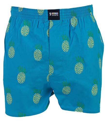 Happy Shorts Webboxer Herren Boxer Motiv Boxershorts Farbwahl, Grösse:XL - 7-54, Präzise Farbe:Design 11 (Santa, Elf Hut)
