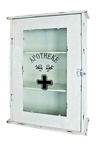 #HAKU Möbel 27997 Medizinschrank, 68 x 47 x 18,5 cm, weiß#