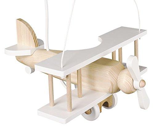 Magnifique lustre lampe Avion en bois 32cm x 30cm Chambre d'enfant en bois.