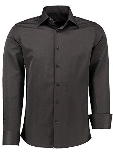 Herren-Hemd – Slim Fit – Bügelleicht – Für Business Freizeit Hochzeit – Crom